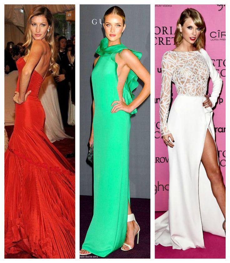 Find your own sense of style >>> http://bit.ly/1ENKONX Red long dress, green long dress, white long dress.