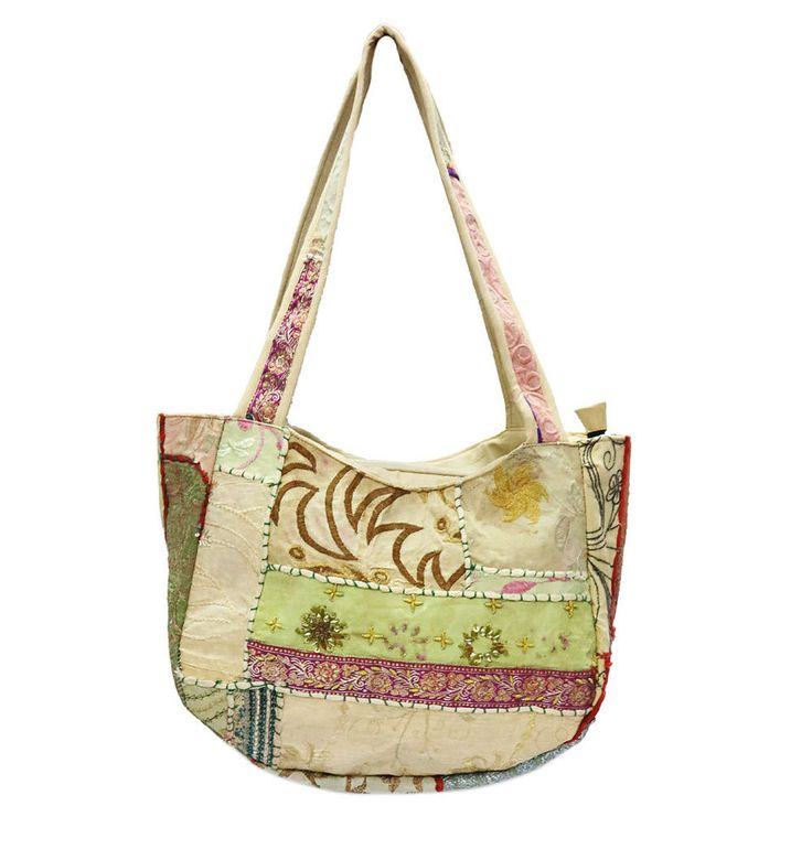 Ethnic Shoulder Cotton Bags Embroidered Vintage Shopping Bag Hippie Woman Bgas #Handmade #ShoulderBags