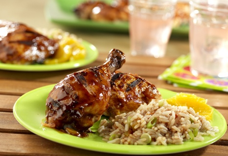 Simply Spicy Grilled Chicken - Here's a special recipe for your next barbecue.  Smoky barbecue sauce combines with spicy picante to create an intriguing grilling sauce for chicken.