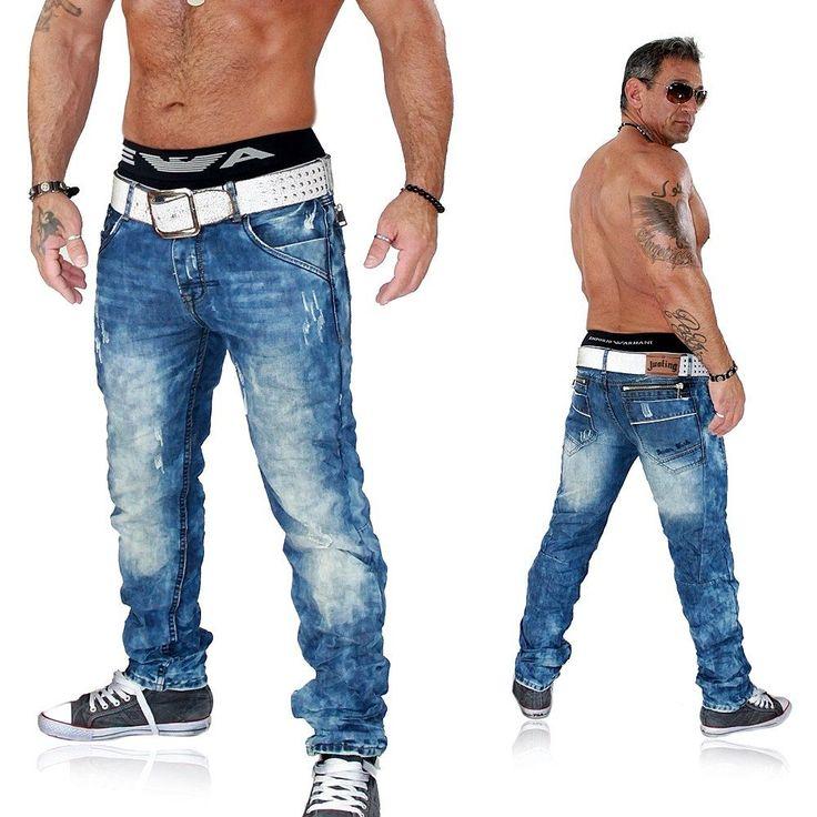 JUSTING Herren Jeans Hose Straight Cut Destroyed Used Kosmo Japan Style 5021 | eBay