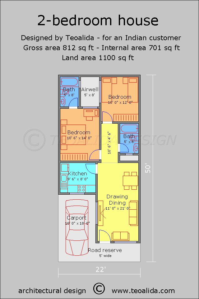 60 X 40 Story And Half House Plans Fresh House Floor Plans 50 400 Sqm Designed By Teoalida Narrow House Plans 2bhk House Plan House Plans One Story