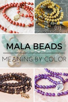 Mala meditation beads are used to count breaths or mantras during meditation. Their colors and the beads they're made from have different meanings that can infuse energy into your practice. Find out the different meanings and pick the right japa mala for you.