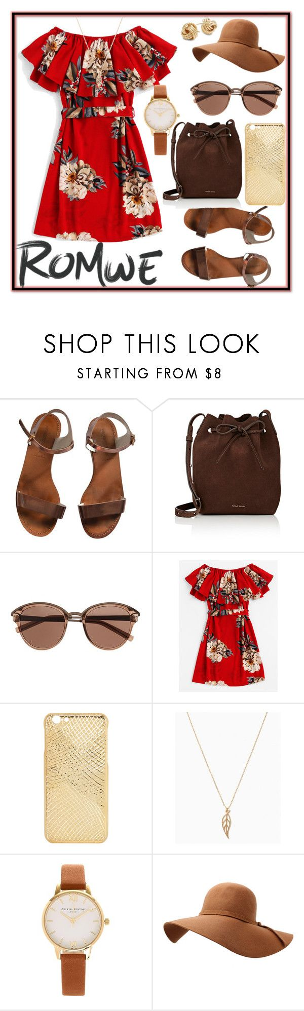 """Romwe — Win $30 Coupon"" by pretty-sassy ❤ liked on Polyvore featuring Emporio Armani, Mansur Gavriel, Witchery, Olivia Burton, Saks Fifth Avenue, floral and romwe"