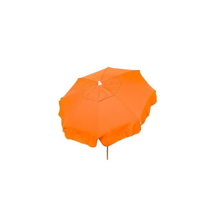 6' Italian Aluminum Collar Tilt Patio Umbrella - Parasol, Orange