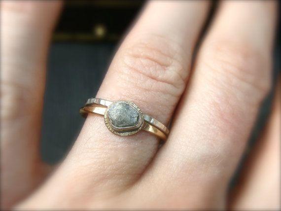 Rohe Liebe... Roh-Diamant-Ring von sirenjewels auf Etsy