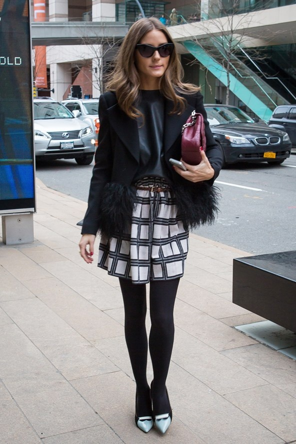 Olivia Palermo spotted at The Lincoln Centre - New York's fashion hub.