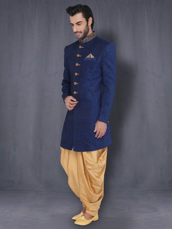 Indo Western With Patiala | Designer Sherwani | Dulha Collection For Men Online | Buy Gift Sets for Men