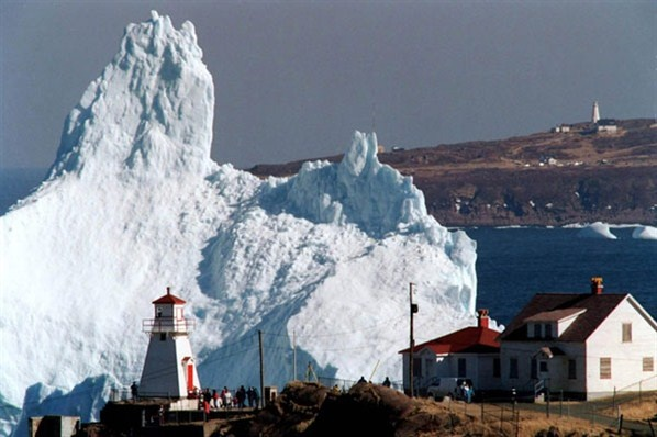 Icebergs off the cost of Newfoundland