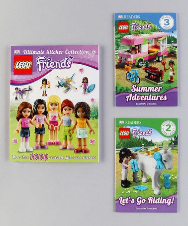 Take a look at this LEGO Friends Paperback Set by LEGO on #zulily today! - they have several of these lego book sets, would these make good 'prizes', @Nanette (Bridget) Wold ?