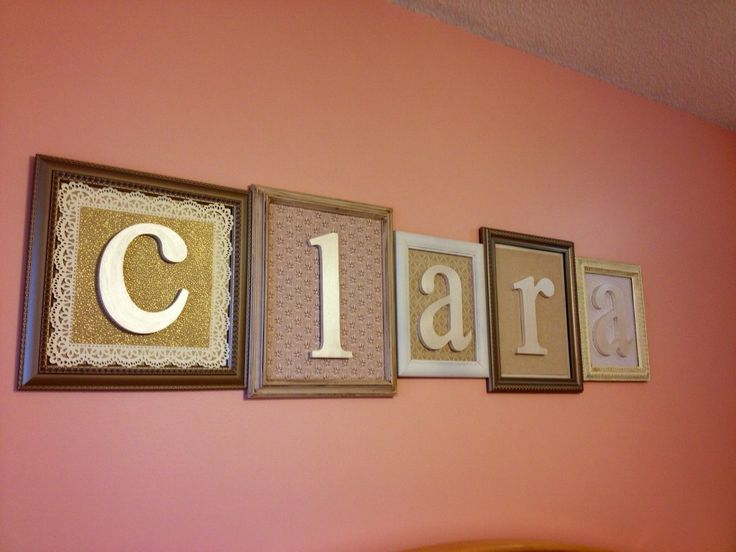 Framed letters to spell out child's name - cute, eclectic #nursery #decor: Baby Girl