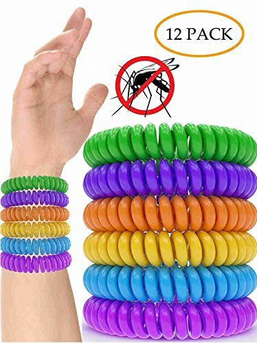 Hosaire Mosquito Repellent Bracelet Band 10 Pack For Natural IndoorOutdoor Insects ** Click the VISIT button to enter the website