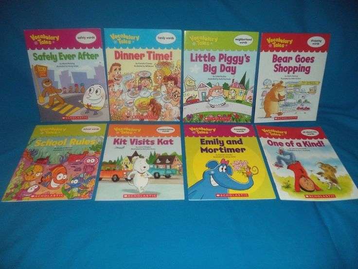 8 Scholastic VOCABULARY TALES Books Ages 5-8, Friendship Safety Shopping Family #Textbook