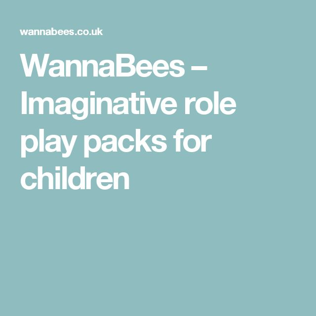 WannaBees – Imaginative role play packs for children