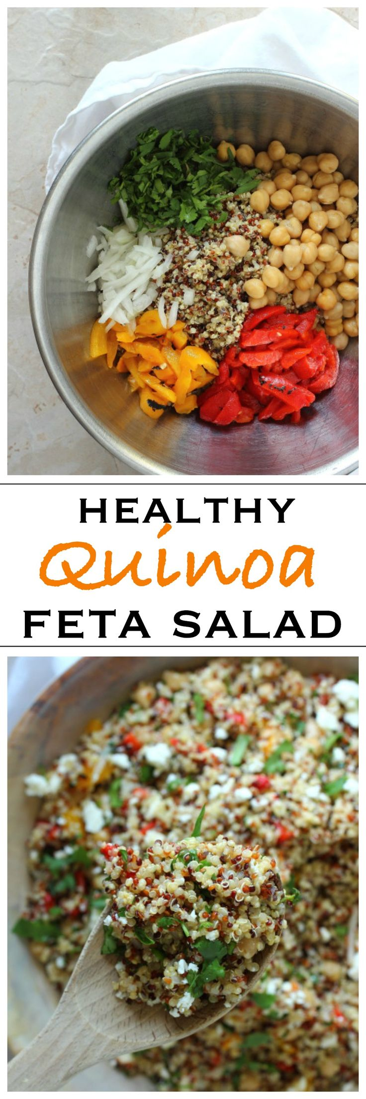 Healthy quinoa and feta cheese salad | Foodness Gracious