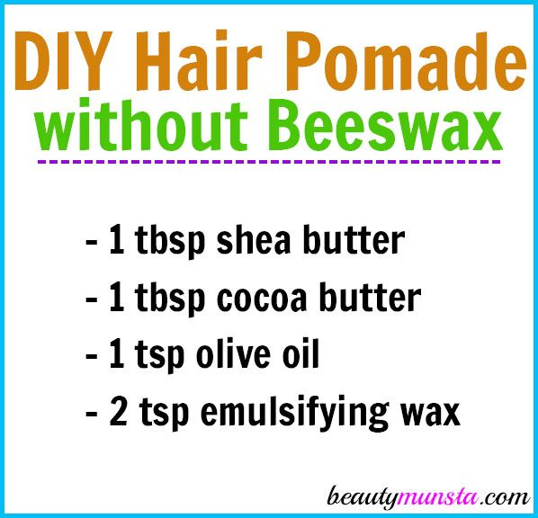Diy Hair Pomade Without Beeswax Beautymunsta Free Natural Beauty Hacks And More Diy Hair Pomade Hair Pomade Diy Hairstyles