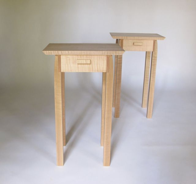 A Pair Of End Tables With Drawer Storage. Small, Narrow End Tables For Your