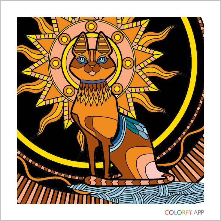 Chat Lion Couleurs De Peintures Livres A Colorier Chats Ouvrages Dart Dessin La Nature Animaux Painting Dimages