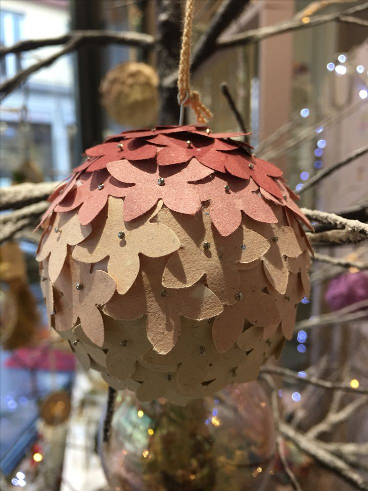 Palle di Natale in carta riciclata Christmas balls recycled paper