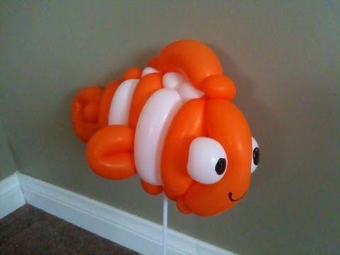 Clown Fish Balloon - Tutorial Mr Bomas Balloons - FUN !!