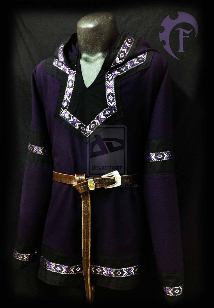 Purple and black viking tunic for men by Feral-Workshop ...