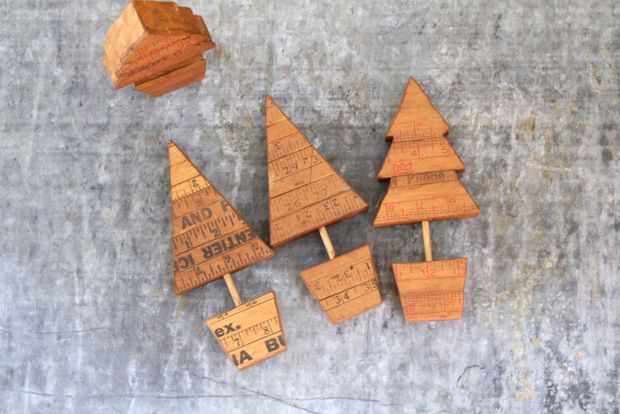 Some fun little trees, Yardstick Ruler Craft Ideas