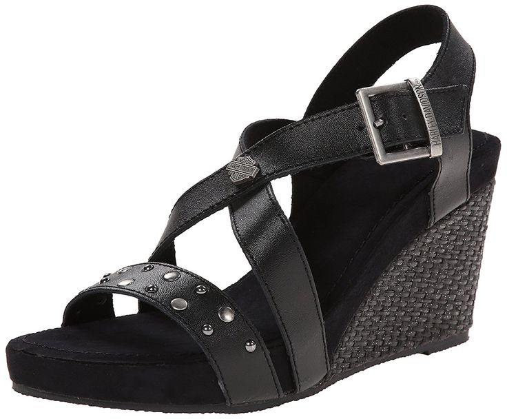 Harley-Davidson Women's Lila Wedge Sandal => Save this wonderfull item : Wedge sandals