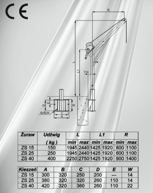 solidna, wytrzymała konstrukcja ze stali nierdzewnej, zobacz ofertę http://www.anrex.pl/wyroby/zurawie-slupowe i zamów żurawia słupowego
