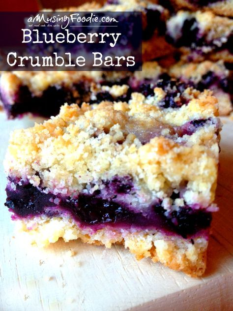 Blueberry Crumble Bars - so easy, and sooooo yummy!