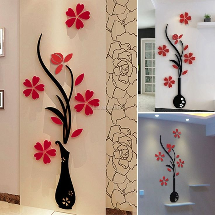 Oltre 25 fantastiche idee su parete a specchio arte su - Decorazioni pareti 3d ...