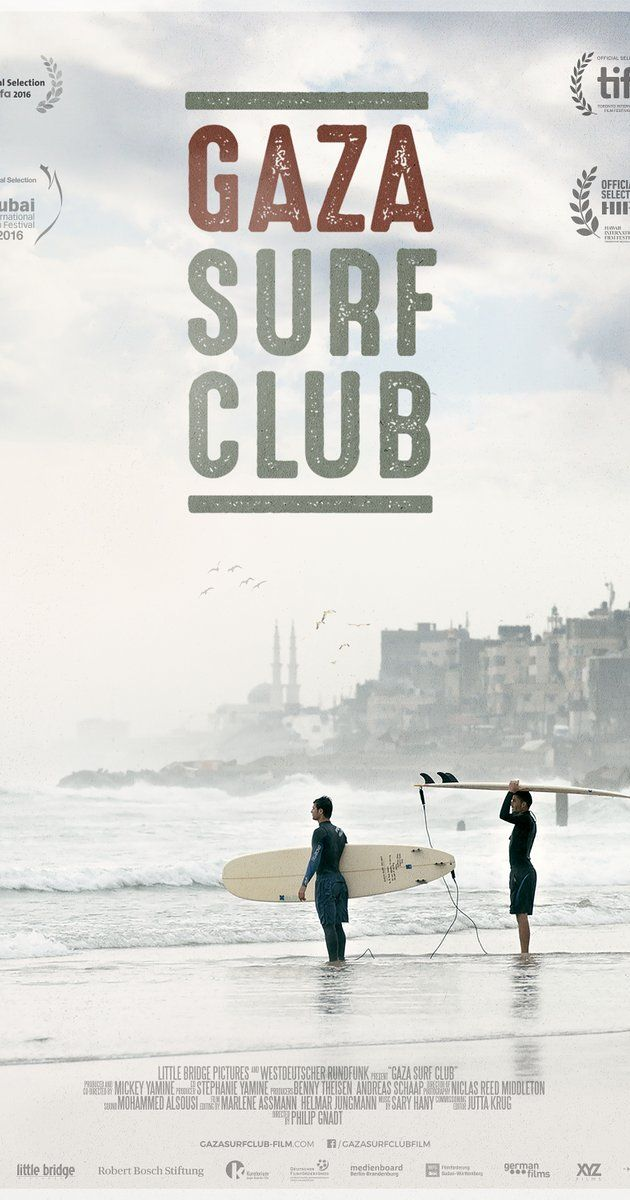 Directed by Philip Gnadt, Mickey Yamine. In a country locked between Egypt and Israel, Gaza's youth are drawn to their beaches. Weary of the daily 'state of emergency' they seek meaning and perspective to their lives through surfing.