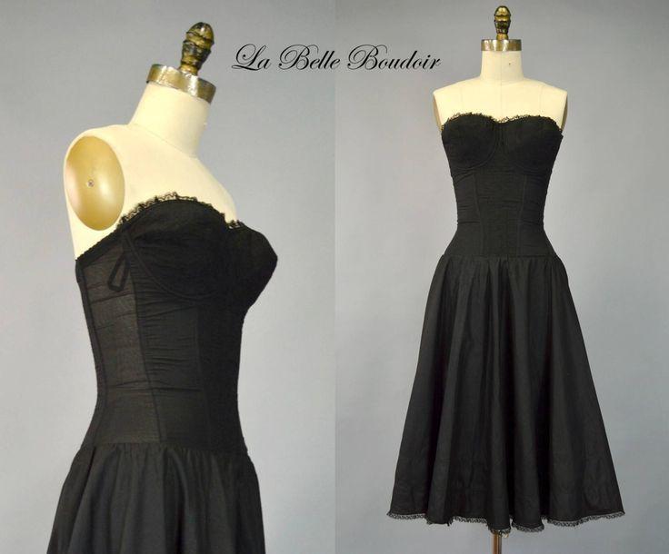 50s Strapless Corset Bra Full Slip 34C Vintage Marja Pinup Lingerie by labelleboudoir on Etsy https://www.etsy.com/listing/532747892/50s-strapless-corset-bra-full-slip-34c