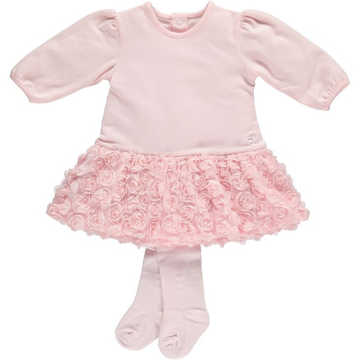 Emile et Rose - Baby Girls - Dress stretch Jersey tulle skirt & Tights
