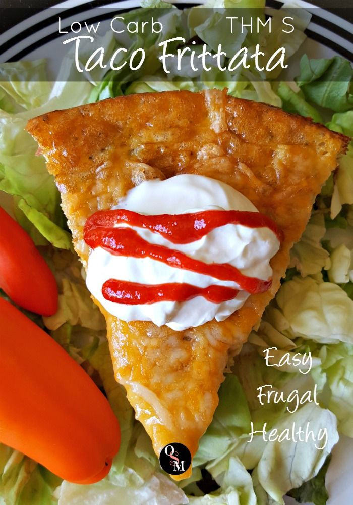 Low Carb Taco Frittata � Easy, Frugal and THM Friendly