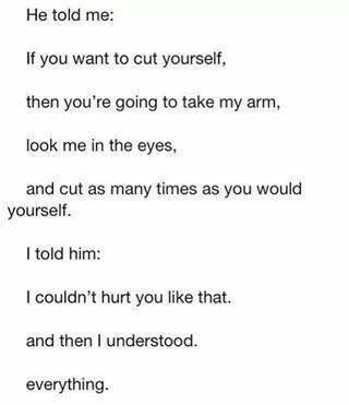 how to make someone stop cutting themselves