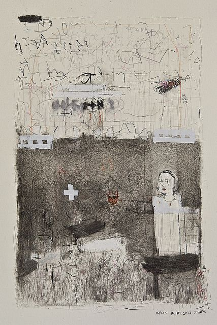 ink,tape, charcoal, graphite on paper berlin 2012