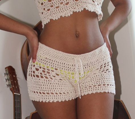 New hand-crocheted low-rise dr