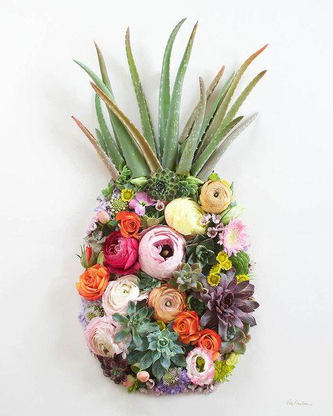 """Pineapple"" Flower Print"