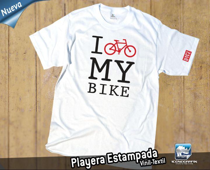 Playera Estampada Personalizada para los amantes del Ciclismo