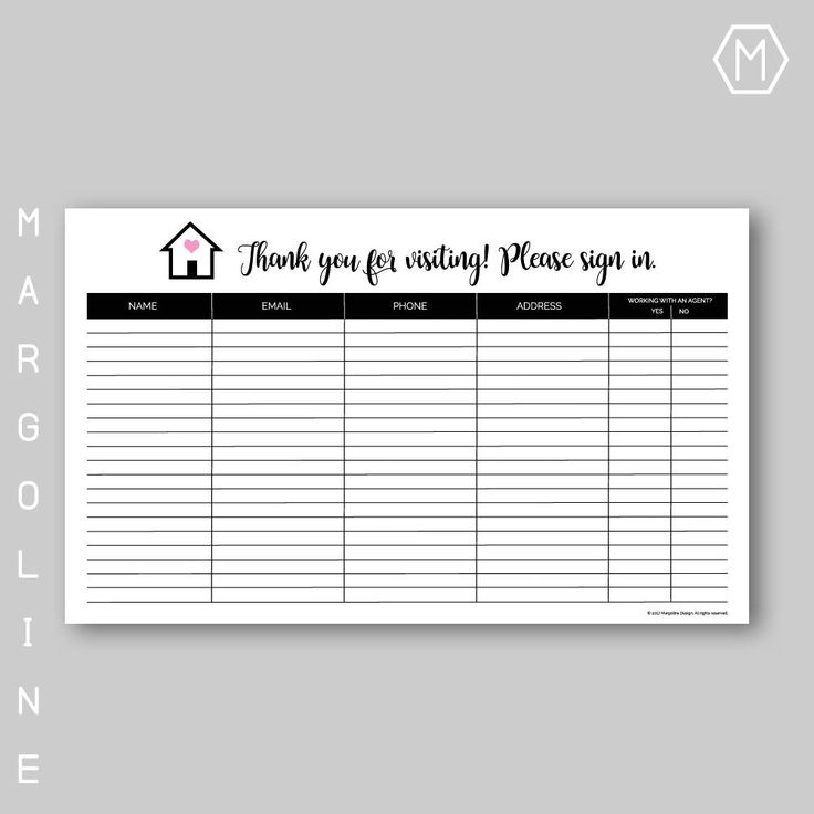 The  Best Sign In Sheet Template Ideas On   Sign In