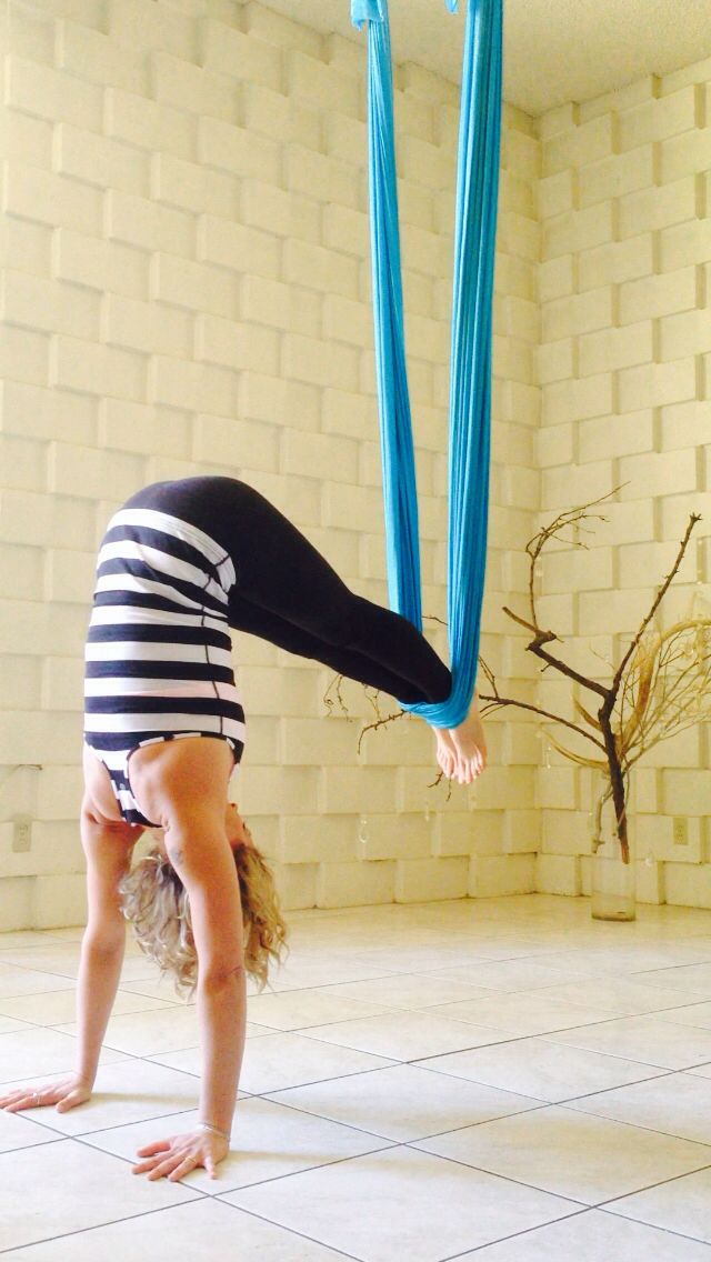 Learning handstands is sure easier in a hammock!   #antigravityyoga  http://floatfitness.co.nz
