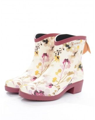Aigle Wildflower Miss Juliette Printed Wellington Boots