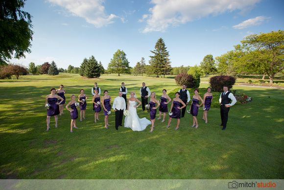 This bride wasn't afraid to have uneven numbers in her bridal party via Mitch's Studio www.mitchstudio.com