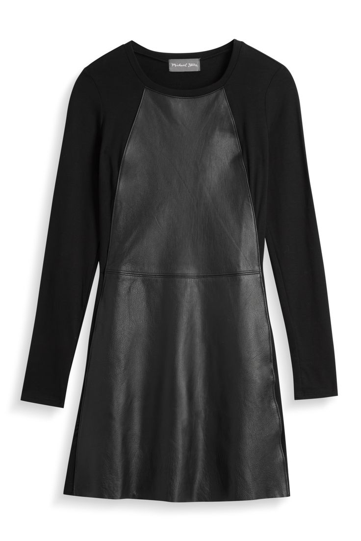 Intrigued by this faux leather dress. Worried it won't be flattering though.