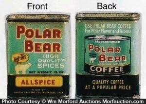 Polar Bear Spice Tin - Sold $110.00