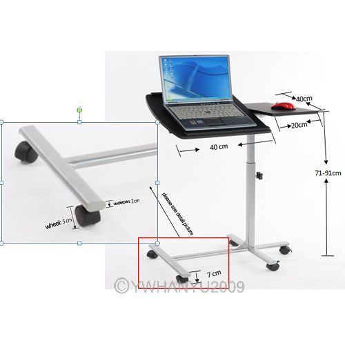 PORTABLE Adjustable Computer Desk Laptop Tray Table Stand Bedroom US STOCK  $41.56
