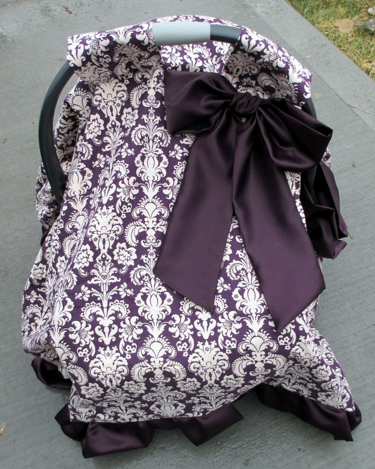 Baby Carrier Cover Girl Canopy Purple Damask by BellaBlitz $64.99 : baby canopy cover - memphite.com