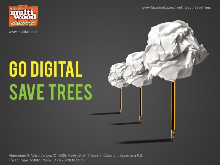 GO DIGITAL SAVE TREES