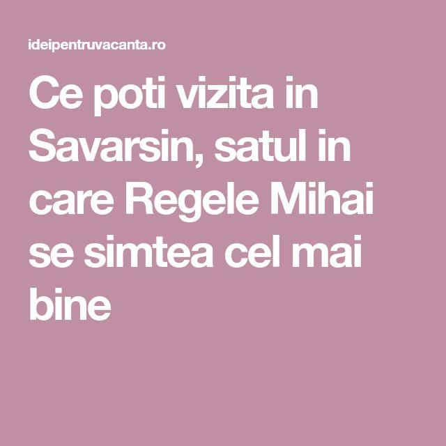 Ce poti vizita in Savarsin, satul in care Regele Mihai se simtea cel mai bine