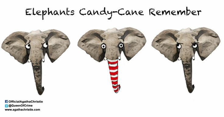 """Elephants Candy-Cane Remember"""