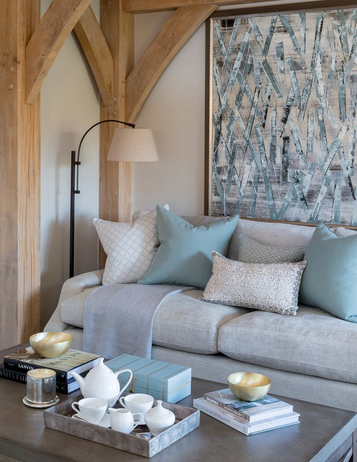 This richly-tactile cashmere throw by Johnstones of Elgin and the beautifully accessorised coffee table add to the homely, relaxed atmosphere of our contemporary barn lounge area.